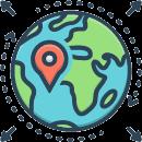globo, geo, localizzazione